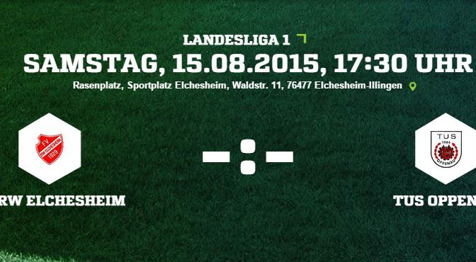 Saisonauftakt Landesliga: Samstag 17:30 h in Elchesheim