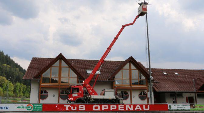 Flutlichtanlage an der Günter-Bimmerle-Sportstätte modernisiert